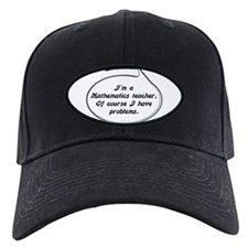 Math Teacher Pun Baseball Hat