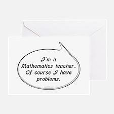 Math Teacher Pun Greeting Card