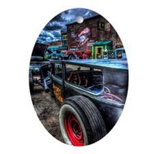 Rat Rod Oval Ornament