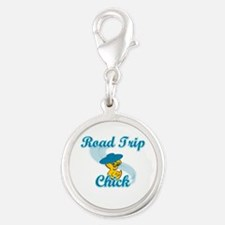 Road Trip Chick #3 Silver Round Charm