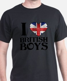 I Love British Boys T-Shirt