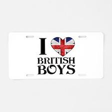 I love heart British Boys Aluminum License Plate