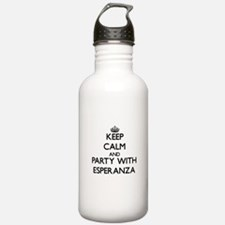 Keep Calm and Party with Esperanza Water Bottle