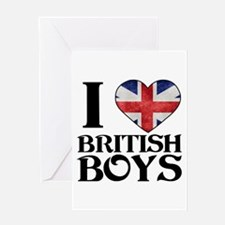 I love heart British Boys Greeting Cards