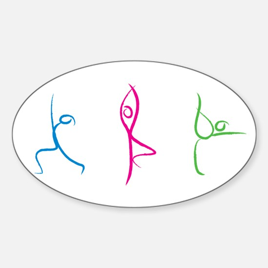 Yoga Pose Sticker (Oval)