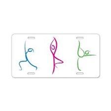 Yoga Pose Aluminum License Plate