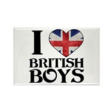 I love heart British Boys Magnets