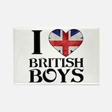 I love heart British Boys Magnets