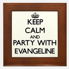 Keep Calm and Party with Evangeline Framed Tile