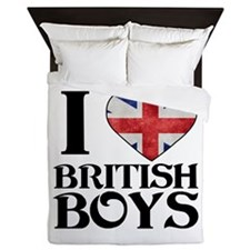 I love heart British Boys Queen Duvet