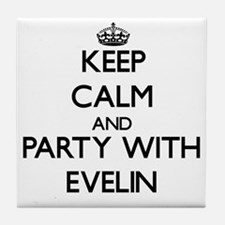 Keep Calm and Party with Evelin Tile Coaster