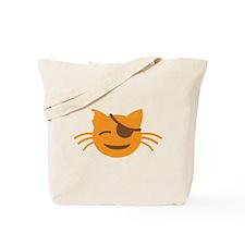 Cute Cat Pirate kawaii face Tote Bag
