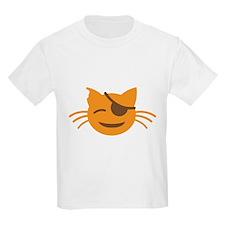 Cute Cat Pirate kawaii face T-Shirt