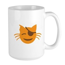 Cute Cat Pirate kawaii face Mugs