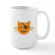 Cute Cat Pirate kawaii face Mugs