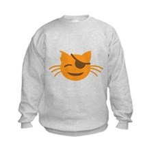 Cute Cat Pirate kawaii face Jumper Sweater