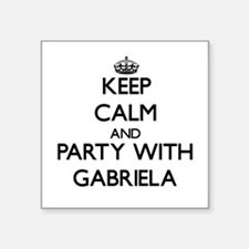 Keep Calm and Party with Gabriela Sticker