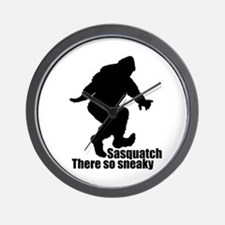 Sneaky Sasquatch Wall Clock
