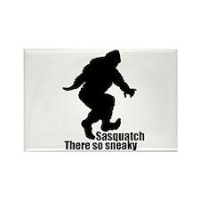 Sneaky Sasquatch Rectangle Magnet