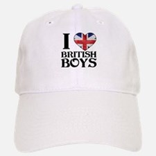 I love heart British Boys Baseball Baseball Baseball Cap