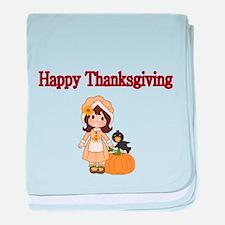 Happy Thanksgiving 3 baby blanket