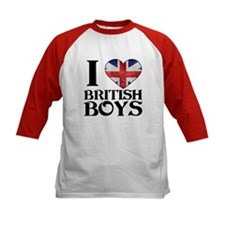 I love heart British Boys Baseball Jersey