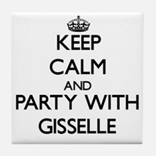 Keep Calm and Party with Gisselle Tile Coaster