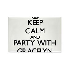 Keep Calm and Party with Gracelyn Magnets