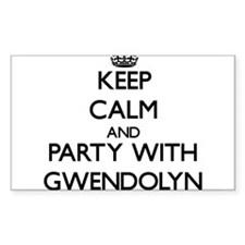 Keep Calm and Party with Gwendolyn Decal