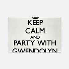 Keep Calm and Party with Gwendolyn Magnets