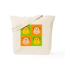 Monkey Pop Art Tote Bag