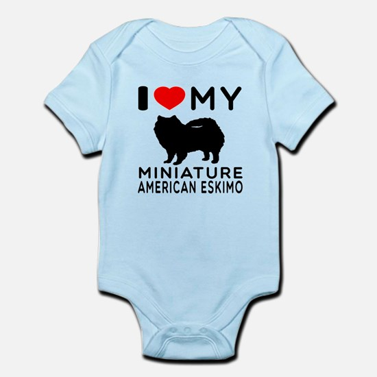 I Love My Miniature American Eskimo Infant Bodysui