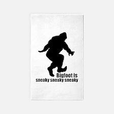 Bigfoot is sneaky sneaky 3'x5' Area Rug