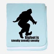 Bigfoot is sneaky sneaky baby blanket