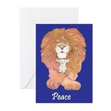 Lion & Lamb Greeting Cards
