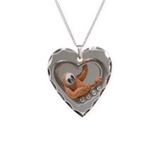 Heart Sloths Hang Around Necklace