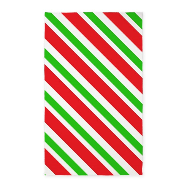 Red and green stripes pattern 3 39 x5 39 area rug by karinaandcleo for Red and white striped area rug