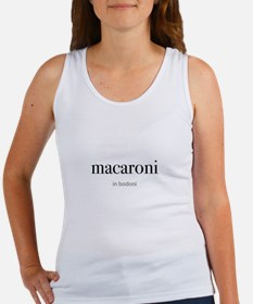 macaroni in bodoni Women's Tank Top