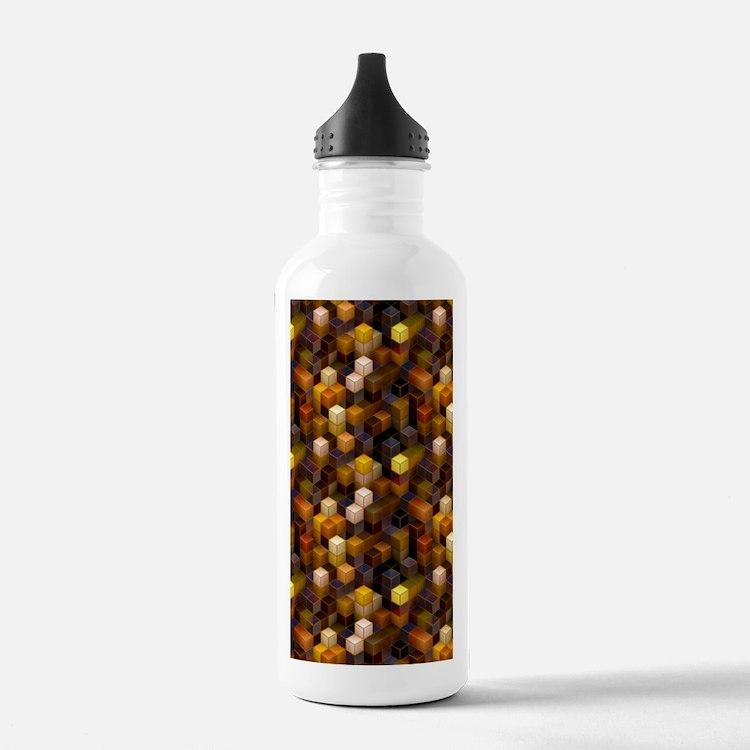 SteamCubism - Brass Water Bottle