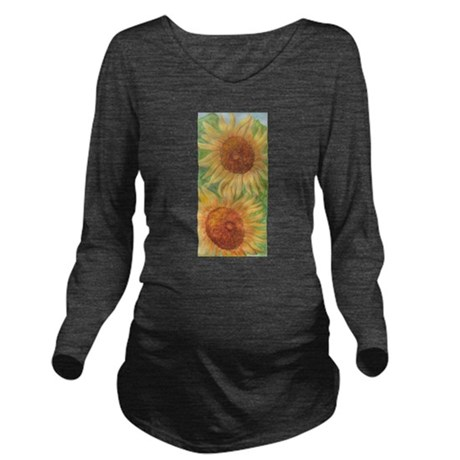 PLEASANT SUNFLOWERS Long Sleeve Maternity T-Shirt