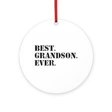 Best Grandson Ever Ornament (Round)