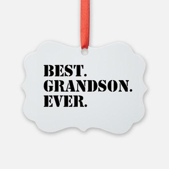 Best Grandson Ever Ornament