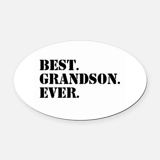 Best Grandson Ever Oval Car Magnet