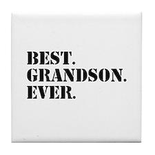 Best Grandson Ever Tile Coaster