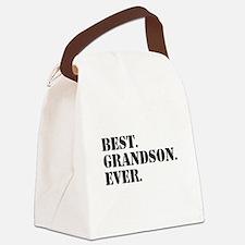 Best Grandson Ever Canvas Lunch Bag