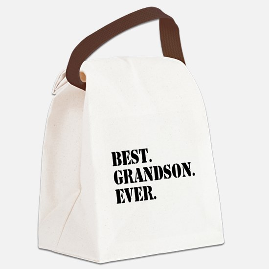 Best Grandson Ever Canvas Lunch Bag