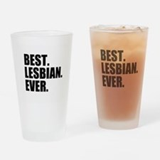 Best Lesbian Ever Drinking Glass