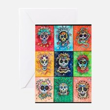 Greeting Card Sugar Skulls 9