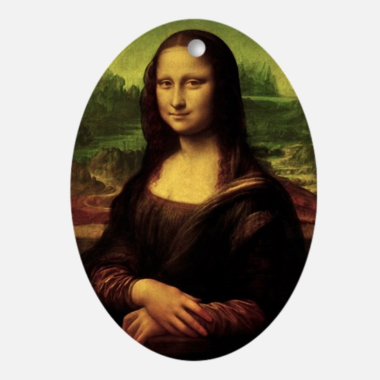 Mona Lisa Oval Ornament