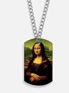 Mona Lisa Dog Tags